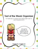 Test of the Week Organizer
