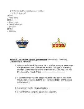 Test on Government Types