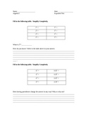 Test on Laws of Exponents