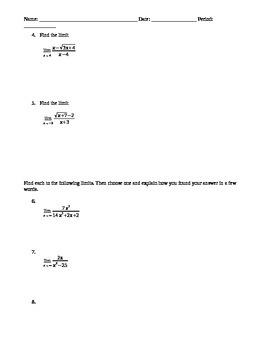 Test on Limits