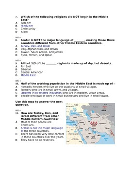 Test on Middle East Geography