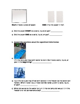 Test on Properties of Matter