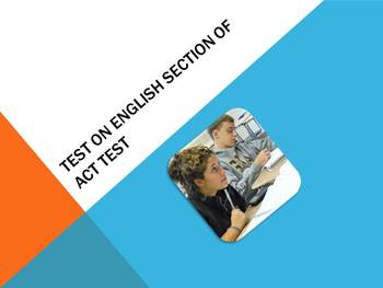 Test on the English Test of the ACT