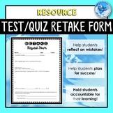Test or Quiz Retake Form