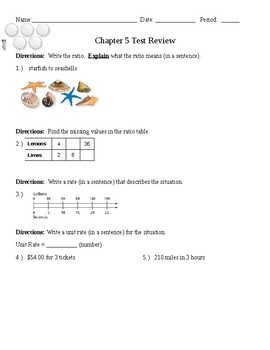 Test review- ratios, percents, finding the is and of (part/whole)