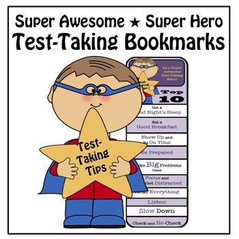 Test-taking Tips Super Hero Bookmarks