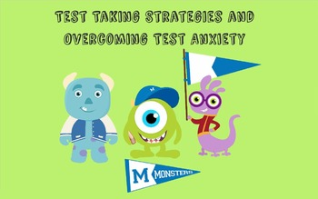 Test taking strategies/test anxiety with Monsters Theme