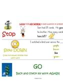 Test taking strategies chart