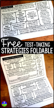 Testing Strategies and Motivation Test Prep Foldable