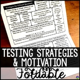 Testing Strategies and Motivation Test Prep Folding Notebook Sheet