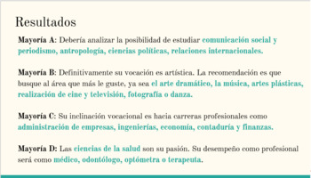 Test vocacional (Career Test) - Spanish Activity for Reading and Conversation