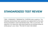 Test with questions for first grade ITBS Terranova or similar Standardized Test