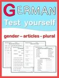German Test Yourself  gender, articles, plural