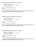 Test/Quiz Corrections