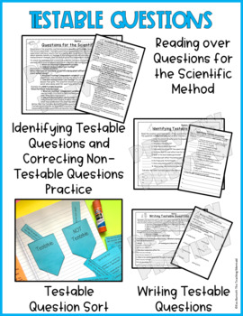Testable Questions A Scientific Method Support Lesson - Mini Lesson