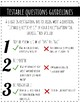 Testable Questions Practice and Analysis
