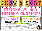 Testable Questions vs. Non-Testable Questions Sorting Acti