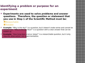 Testable & Researchable Questions