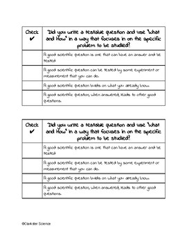 Testable Question Worksheets & Teaching Resources | TpT