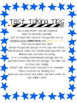 Testing 1, 2, 3...Some tips for test taking