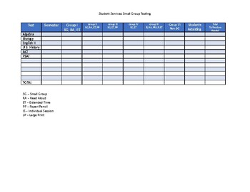 Testing Accommadations Schedule