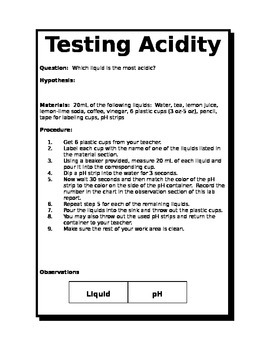 Testing Acids