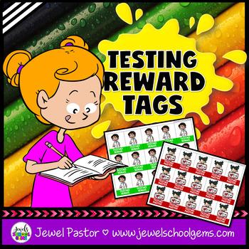 Testing Motivation Brag Tags (STEAM or STEM Testing Brag Tags)
