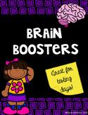 Testing Brain Boosters!
