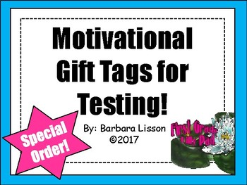 Testing Buddy Gift Tags