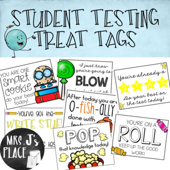 Student Testing Treat Tags