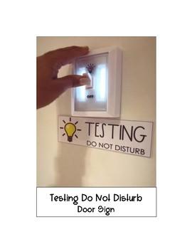 Testing Do Not Disturb Door Sign
