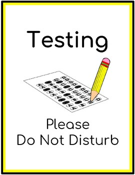 Testing Do Not Disturb Poster
