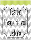Testing Do Not Disturb Sign