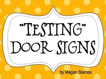 Testing Door Signs