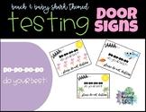 Testing Door Signs - Beach & Baby Shark Theme