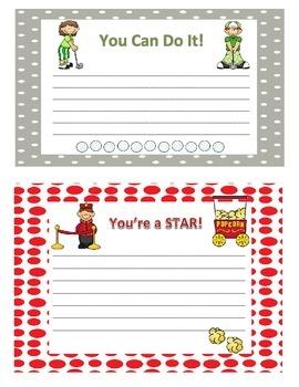 Testing Encouragement Cards