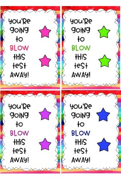 Testing Encouragement Cards {BLOW POPS}