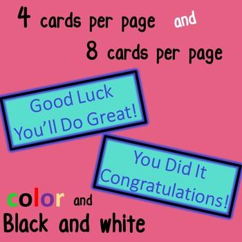 Testing Encouragement, Motivation and Congratulations (Emoji) Cards