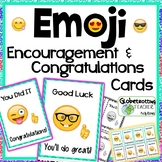 Encouragement Cards-Emoji Motivation and Congratulations Candy-Gram Cards