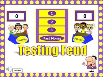 Testing Feud Powerpoint Game: PERFECT before State Test!!