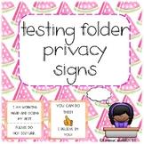 Testing Folder Privacy Signs