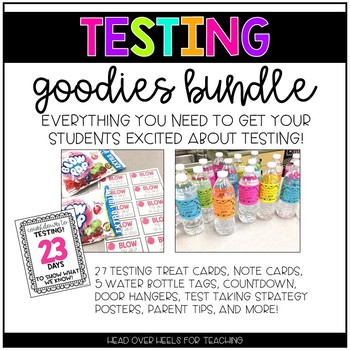 Testing Goodies Pack {Countdown, Strategy Posters, Candy Cards, Signs}