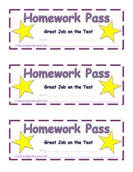 Testing Homework Pass