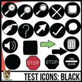 Testing Icon Clip Art: Black
