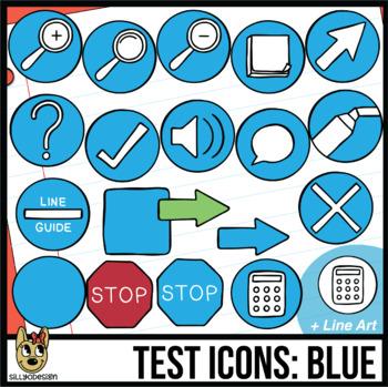 Testing Icon Clip Art: Blue