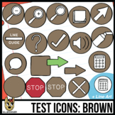 Testing Icon Clip Art: Brown
