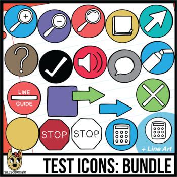 Testing Icon Clip Art: Bundle 12 Colors