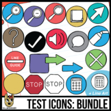 Testing Icon Clip Art: Bundle 12 Colors