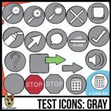 Testing Icon Clip Art: Gray