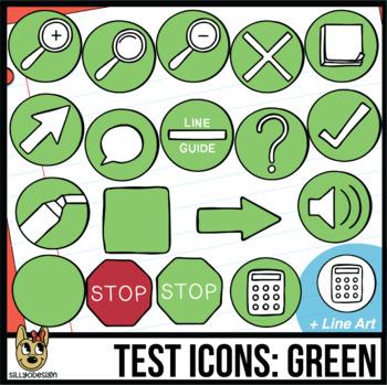 Testing Icon Clip Art: Green